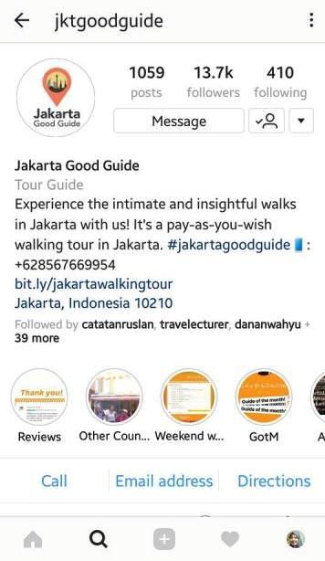 media sosial instagram jakarta good guide