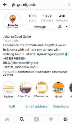 media sosial instagram jakarta good guide