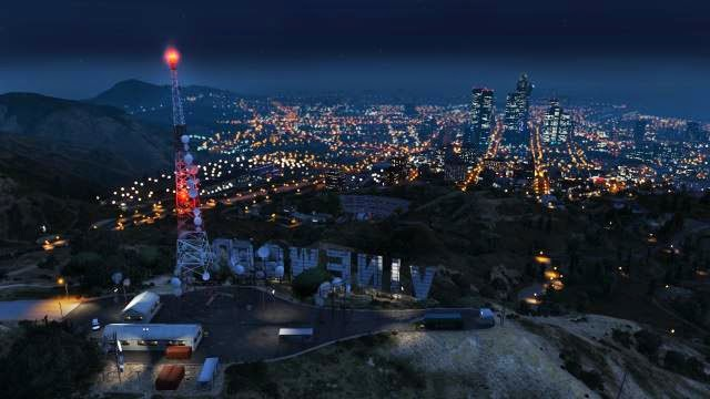 los santos at night