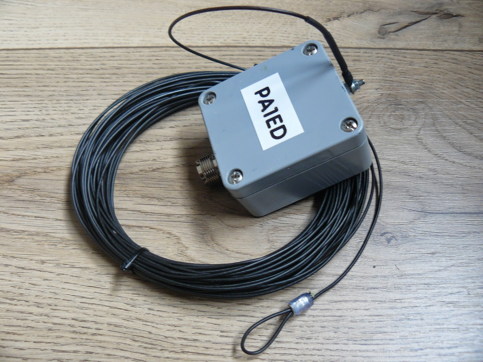 Pa1ed Radio Amateur Projects  End Fed Wire Antenna For 10