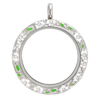 Origami Owl Large Silver Daisy Face Living Locket available at StoriedCharms.com