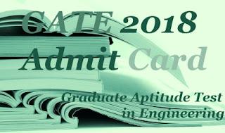 GATE Admit Card download 2018 | GATE 2018 Hall ticket | GATE 2018 Hall ticket download