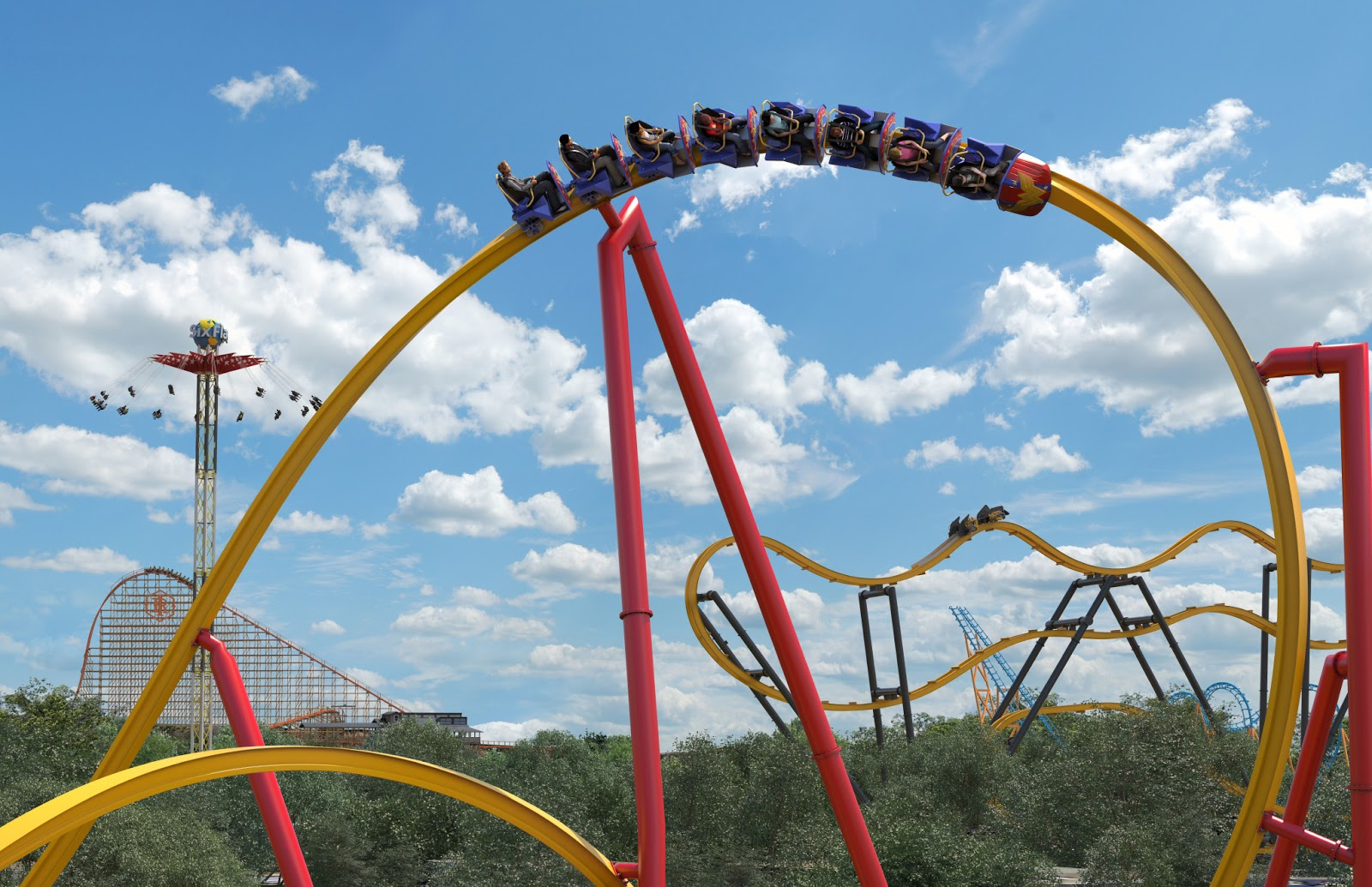 1e8a081eb9a97d Six Flags Fiesta Texas will debut the one of the world's first single rail  coasters: Wonder Woman Golden Lasso Coaster.