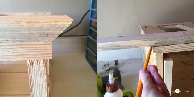 measuring bevel mark for top boards