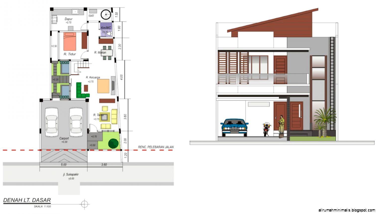 Denah Dan Tampak Rumah Minimalis | Design Rumah Minimalis