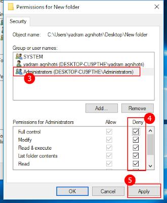 Folder lock kaise lagaye