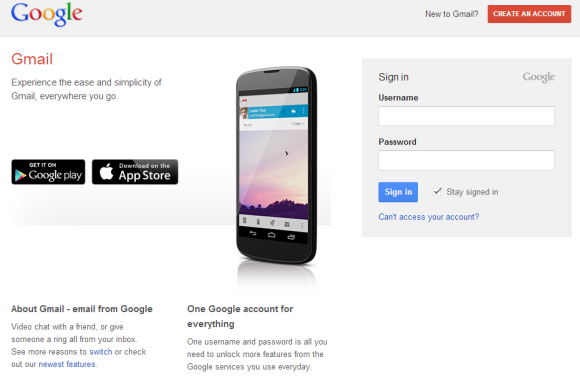 Gmail Has a New Login Page