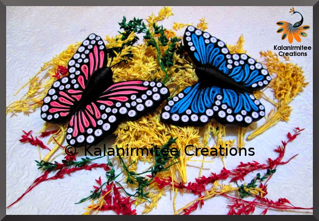 kalanirmitee: paper quilling-quilled insects- quilled butterflies- quilled magnets