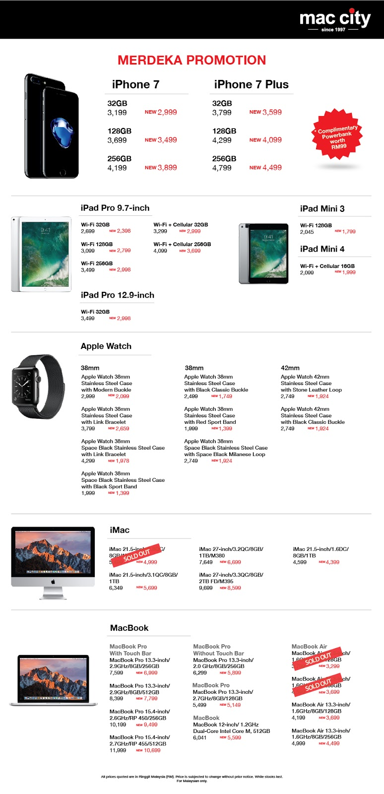 Mac City Malaysia Apple Products Price Reduction Merdeka Sale Discount Offer Promo