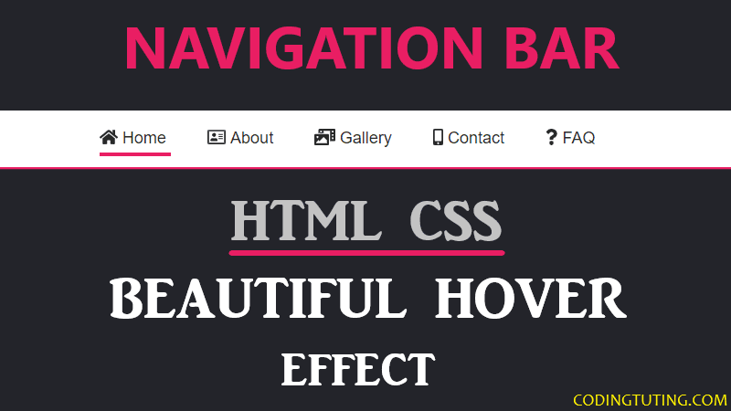 Hover Animation on Navigation Bar