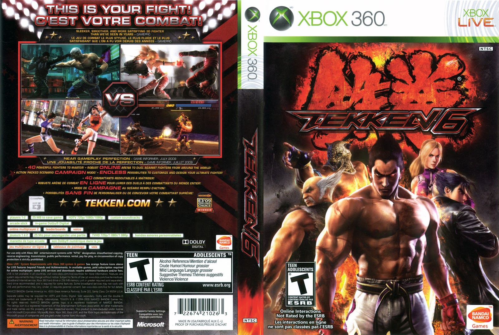 Tekken 6 Xbox 360 Review Chalgyr S Game Room
