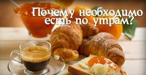 что есть по утрам правильное питание