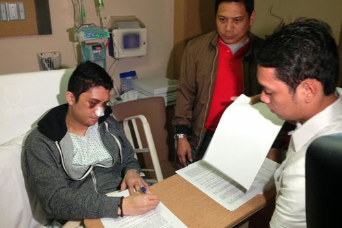 "Vhong ""Ferdinand"" Navarro Already Makes Sworn Statement after Surgery"