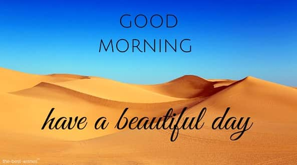 good morning with desert dunes