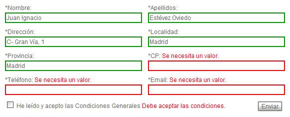 neo 2.0 - Validación de campos de un formulario con SpryAssets - 3