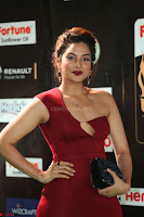 Natasha Nebasha in a Leg Slit Sleeveless Stunning Red Gown at IIFA Utsavam Awards 2017 077.JPG