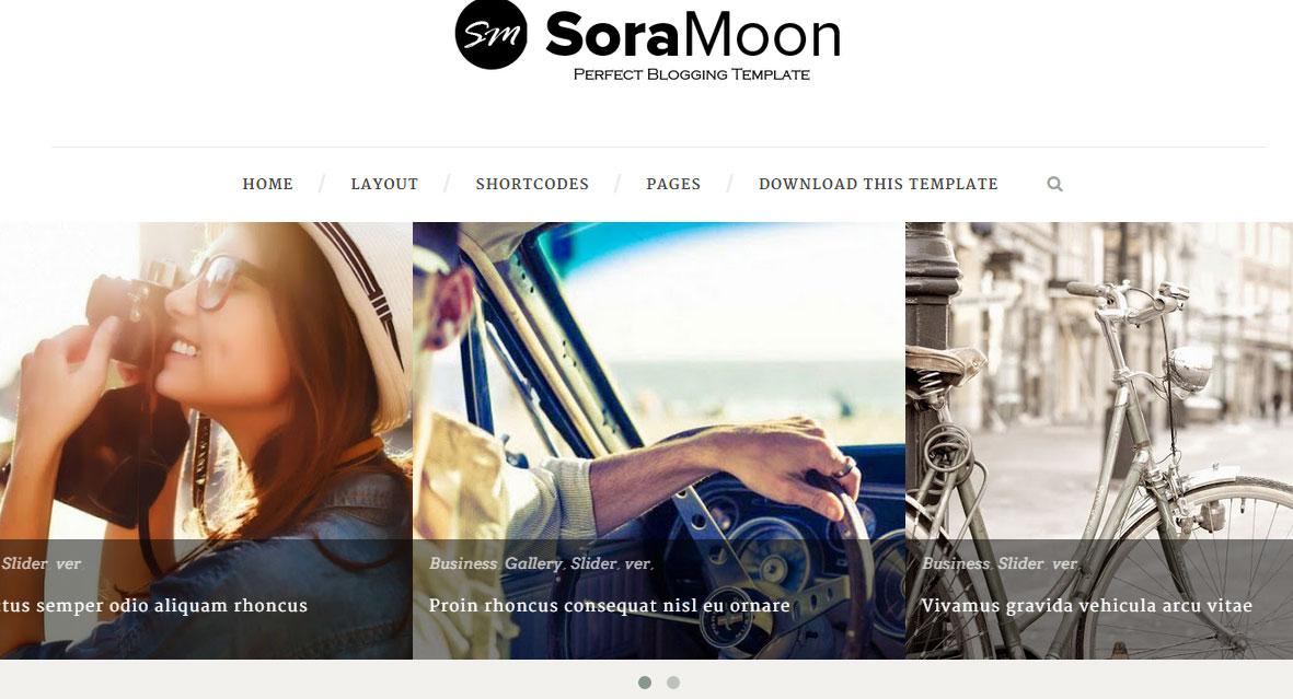 Sora Moon Responsive Blogger Template
