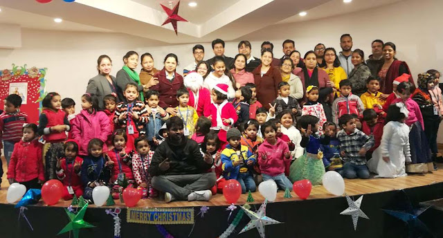 Children celebrate Christmas celebration at Surajkund International School