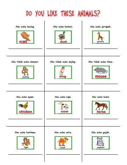 Materi Bahasa Inggris untuk Anak Level 1 (Usia 7 - 9 Tahun): I Like Animals (Aku Suka Hewan)