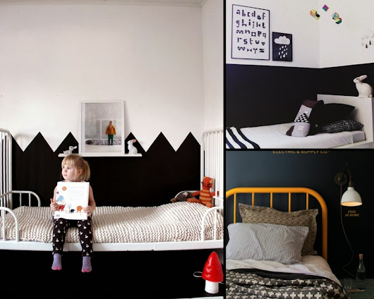 We love the color BLACK in kids rooms...