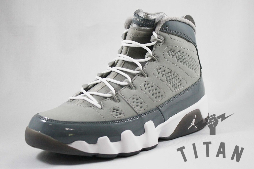 7ac7542b91f Titan heats up the shoe rack with their latest retro Jordan release - the Air  Jordan 9 Retro  Cool Grey . Featuring nubuck and leather uppers