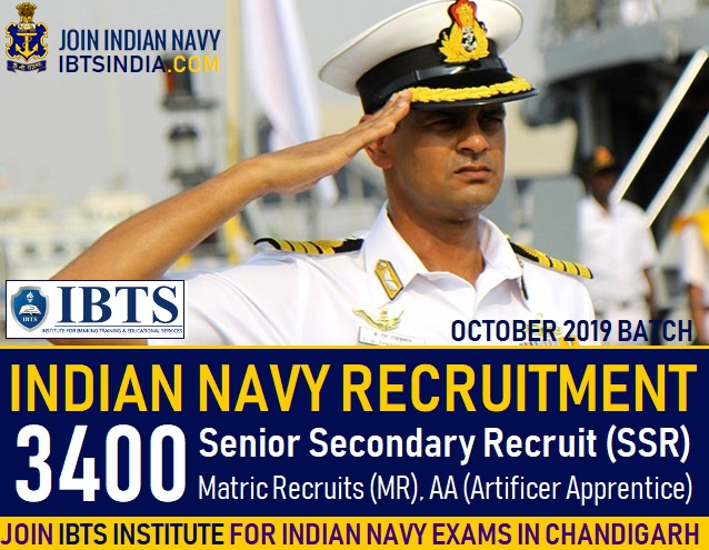Indian Navy Sailor Recruitment 2018 – Apply Online for 3400 SSR,MR & AA Posts