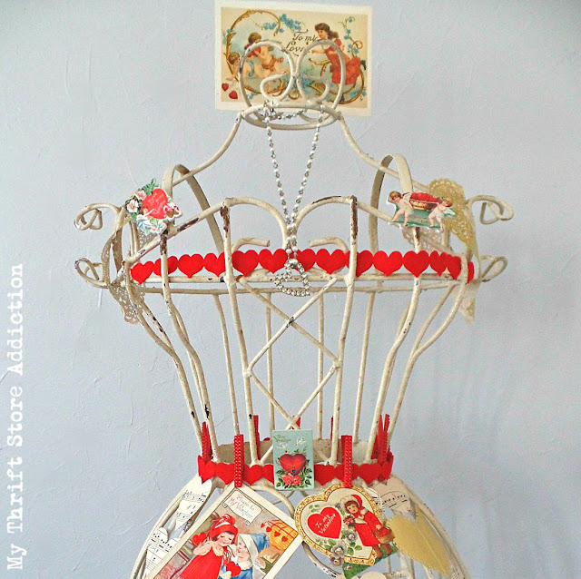 Queen of Hearts vintage Valentine dress form