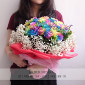 mawar pelangi, rainbow rose