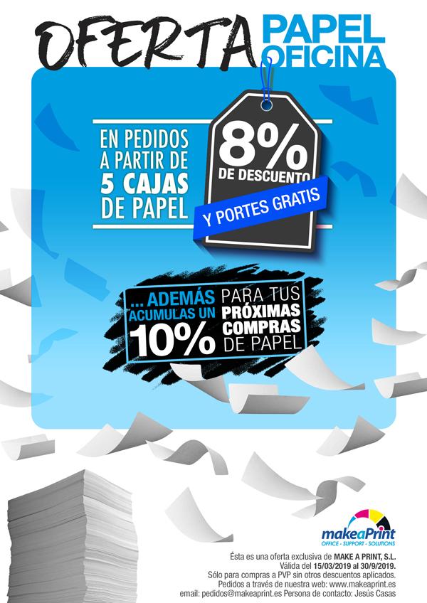 oferta papel oficina 2500 hojas desde 17,61 y 10% descuento en proximas compras