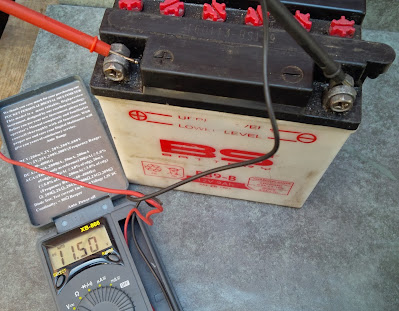 Honda CG 125 motorcycle battery maintenance