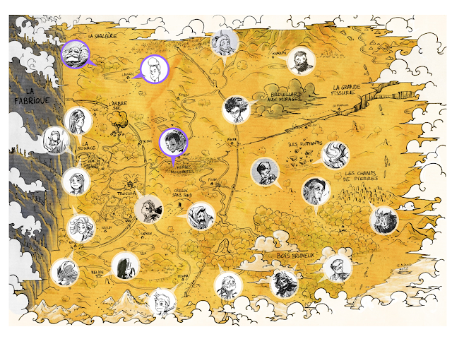 inktober Map character design french comics Fabrique personnage