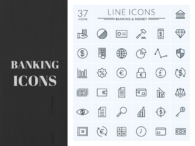 High Quality Premium Banking and Money Icons for Web & Mobile For Free Download: Freebies
