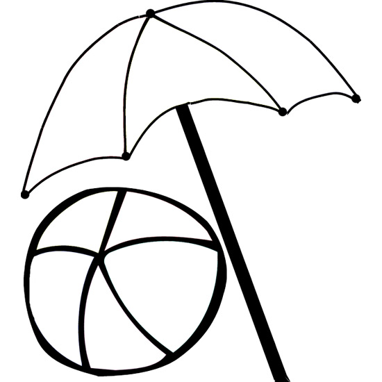 beach umbrella coloring pages - photo#1