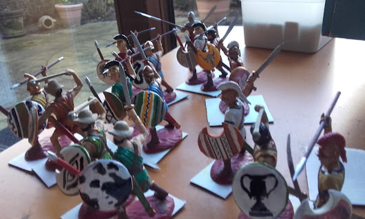 Painting Expeditionary Force 54mm figures Ancient Greeks - Thracians Persians - part2