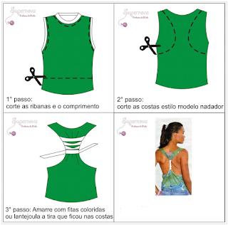 Como customizar uma camiseta feminina
