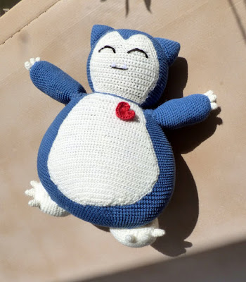 crochet amigurumi snorlax pokemon pillow