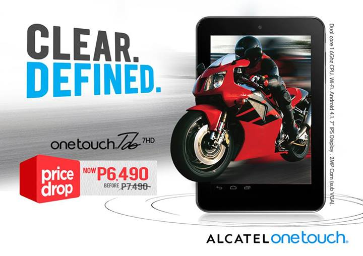 Alcatel One Touch Tab 7HD Price Drop