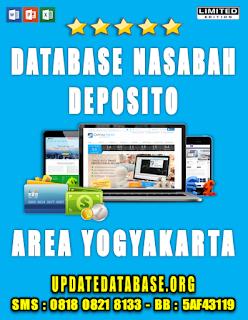 Jual Database Nasabah Deposito Yogyakarta