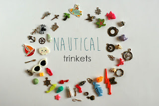 Nautical TomToy I spy trinkets, I spy bag supply, I spy bottle miniatures, eye spy objects, findings, i spy knick-knacks, eyespy trinkets