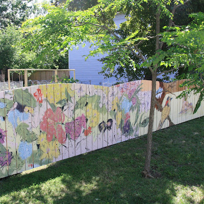 New fence Mural at the uOttawa community garden