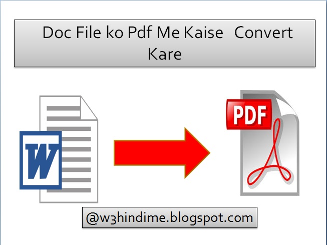 Doc File Ko Pdf File Me Kaise Convert Karte Hai - Online