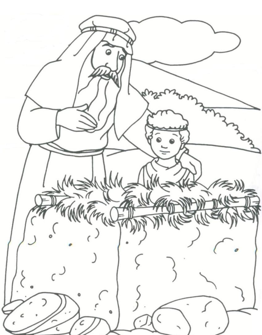 Bible story abraham coloring pages for drawing