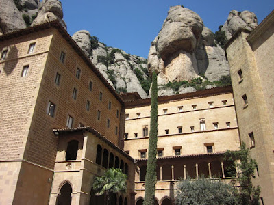 Gothic cloister of the benedictine Montserrat Abbey