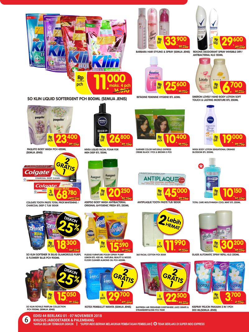 Superindo - Katalog Promo Periode 01 - 07 November 2018