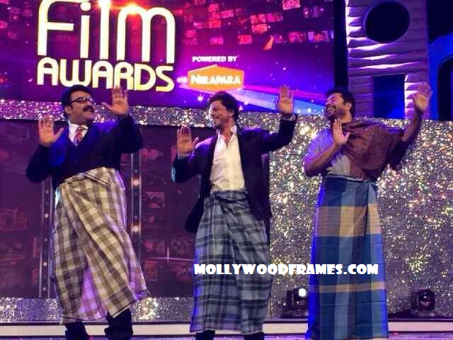 Shah Rukh Khan with Mammootty and Mohanlal