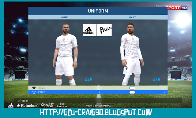 PES 2017 Real Madrid with Badge Club World Cup 2016 CHAMPIONS