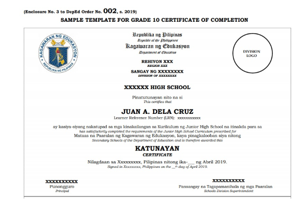"Sample of DepEd's Diploma which contain ""highly sensitive"" information"