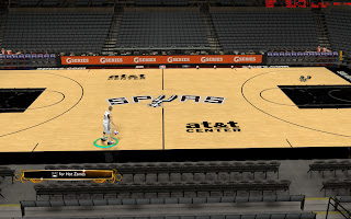 NBA 2K13 San Antonio Spurs 2013 Court Patch