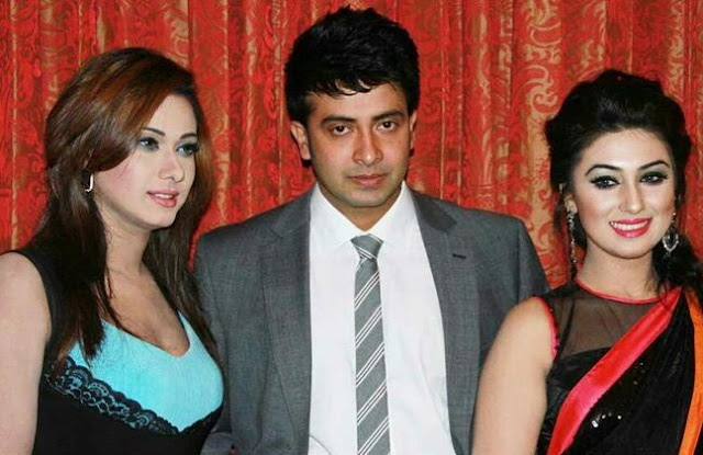 Eamin Haque Bobby With Shakib Khan and Apu Biswas