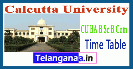 Calcutta University Exam Time Table 2018 Result